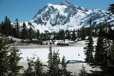 Photograph - Picture Lake With Snow by Tom Cochran