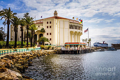 Picture Of Avalon Casino On Catalina Island  Art Print by Paul Velgos