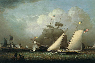 Painting - Picture Of The 'dream' Pleasure Yacht by Robert Salmon