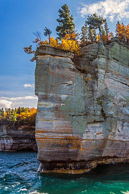 Photograph - Picture Rock Cliff by Lonnie Paulson