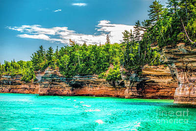 Photograph - Picture Rocks Lakeshore Michigan by Nick Zelinsky