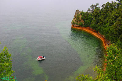 Photograph - Pictured Rocks Lake Superior by Michael Rucker