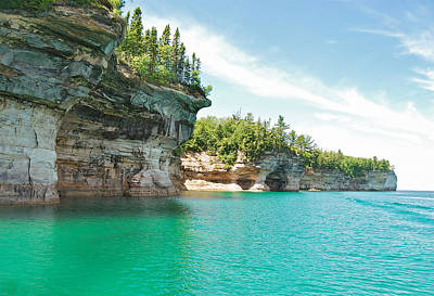 Landscapes Royalty-Free and Rights-Managed Images - Pictured Rocks by Michael Peychich