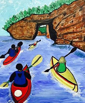 Painting - Pictured Rocks National Lakeshore by Jonathon Hansen