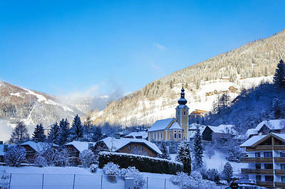 Photograph - Picturesque Alps Village In Austria Winter View by Brch Photography