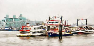 Photograph - Picturesque Boats Moored On The River Thames by Dorothy Berry-Lound