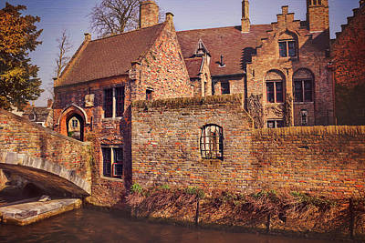 Stone Buildings Photograph - Picturesque Bruges  by Carol Japp
