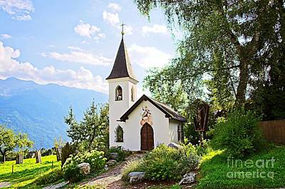 Photograph - Picturesque Chapel In Telfs-lehen Tyrol Austria by Elzbieta Fazel