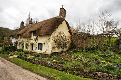Photograph - Picturesque Dunster Cottage by Shirley Mitchell