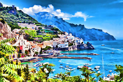 Picturesque Italy Series - Amalfi Art Print