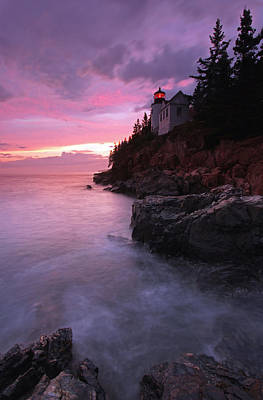 Picturesque New England Bass Harbor Lighthouse Art Print by Juergen Roth