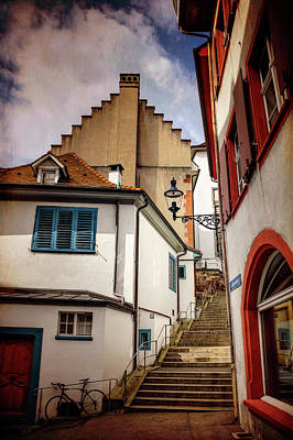 Picturesque Old Town Of Basel Switzerland  Art Print