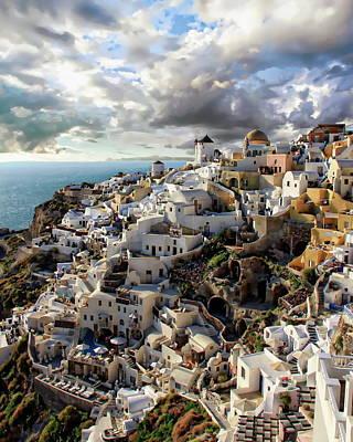 Photograph - Picturesque Santorini  by Anthony Dezenzio
