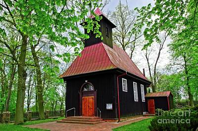 Photograph - Picturesque Wooden Church In Poland by Elzbieta Fazel
