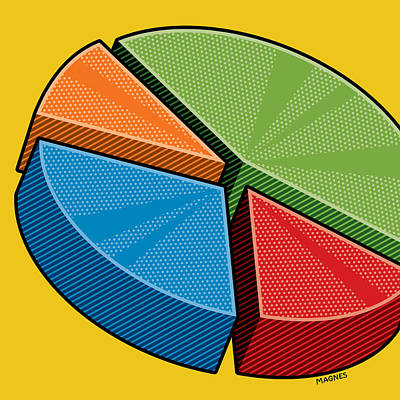 Art Print featuring the digital art Pie Chart by Ron Magnes