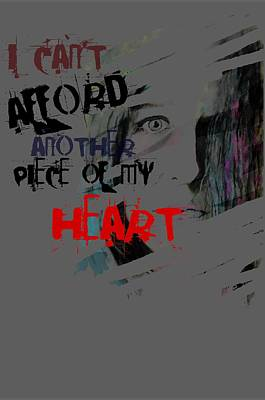 Piece Of My Heart T Shirt Art Print