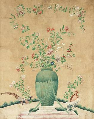 Vase Painting - Piece Of Wall Paper by Eastern Accent