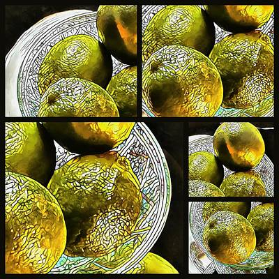 Photograph - Pieces Of Lime Collage by Dorothy Berry-Lound
