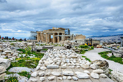 Photograph - Acropolis - Pieces Of The Puzzle by Debra Martz