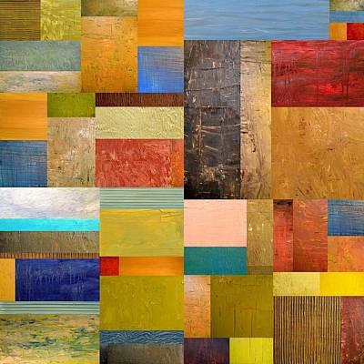 Compilation Painting - Pieces Project Lll by Michelle Calkins