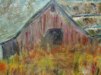 Rural Decay Painting - Piedmont Barn by Max Bowermeister
