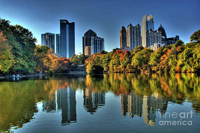Locust Photograph - Piedmont Park Atlanta City View by Corky Willis Atlanta Photography
