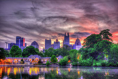 Photograph - Piedmont Park Lake Reflections Art by Reid Callaway