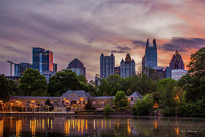 Photograph - Piedmont Park Midtown Atlanta Sunset Art by Reid Callaway