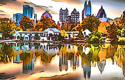 Drawing - Piedmont Park by Sergey Lukashin