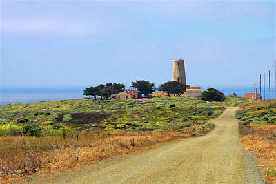 Piedras Blancas Historic Light Station - Outstanding Natural Area Central California Art Print by Christine Till