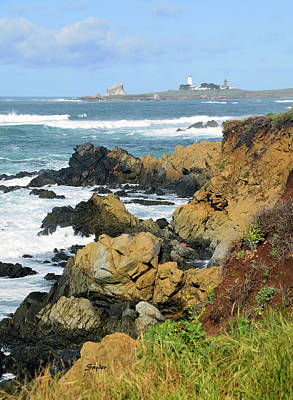 Photograph - Piedras Blancas Light Station In The Distance by Floyd Snyder