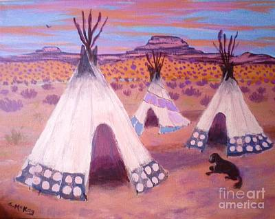 Painting - Piegan Indian Tipis by Suzanne McKay