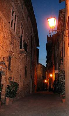 Photograph - Pienza At Night by Diane Height