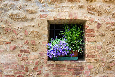 Photograph - Pienza Facade #4 by Michael Blanchette