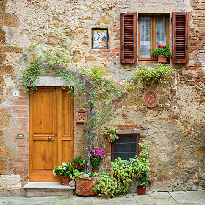 Photograph - Pienza Facade by Michael Blanchette