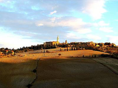 Photograph - Pienza On The Hill by Diane Height