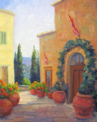 Pienza Passage Art Print by Bunny Oliver