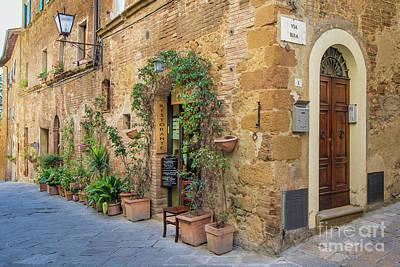 Photograph - Pienza Street Corner by Jennifer Ludlum