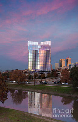 Photograph - Pier 1 Building And The Trinity River, Downtown Ft. Worth Texas U S A by Greg Kopriva