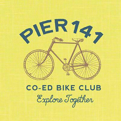 Pier Digital Art - Pier 141 Bike Club by Brandi Fitzgerald