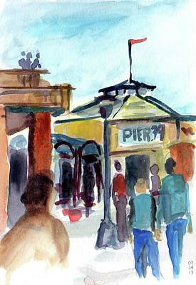 Painting - Pier 39 San Francisco by Tom Simmons