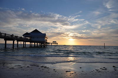Pier 60 At Clearwater Beach Florida Art Print by Bill Cannon