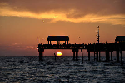 Pier Digital Art - Pier 60 Clearwater Beach - Watching The Sunset by Bill Cannon