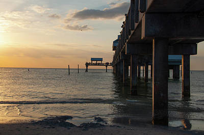 Photograph - Pier 60 Sunset by John Black