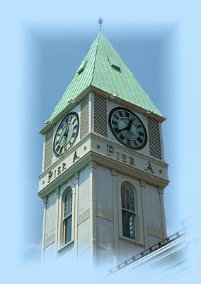 Photograph - Pier A Clock Tower by Cate Franklyn