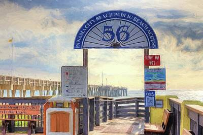 Digital Art - Pier Access 56 Panama City Beach by JC Findley