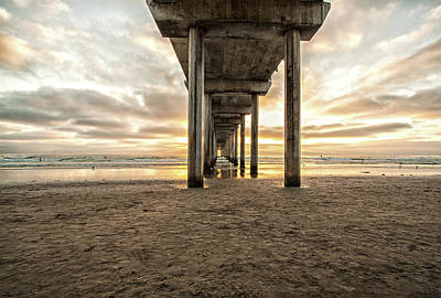 Photograph - Pier And Clouds by Ruth Jolly