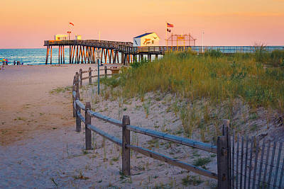 Photograph - Pier Around The Fence by Mark Robert Rogers