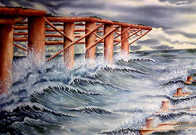 Steele Painting - Pier At Atlantic City by Ragon Steele