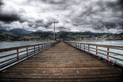 Dark Clouds Photograph - Pier At Avila Beach California by Kevin Dyer